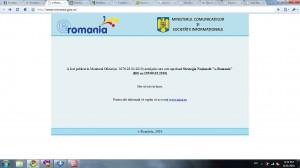 Portalul eRomania inexistent la 31 august 2010