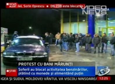 Protest la benzinariile din Romania la finele lui 2010 si inceputul lui 2011 pentru scumpirea nejustificata a pretului la combustibili