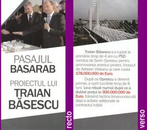 Propaganda basista in 2011 -- Pasajul Basarab