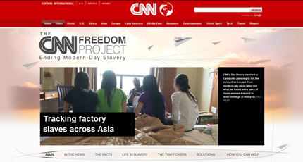 CNN, The Freedom Project -- Tracking factory slaves across Asia