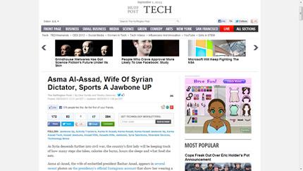Source -- http://www.huffingtonpost.com/2013/08/20/asma-al-assad-jawbone_n_3781631.html