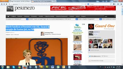 Sursa: http://www.pesurse.ro/2013/11/03/marele-handicap-al-romniei-este-usl-focarul-de-cor/#news